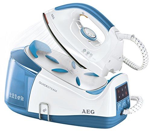 AEG QuickSteam DBS3350-1 Dampfbügelstation (2350 Watt, Anti-Kalk-System) blau - 1